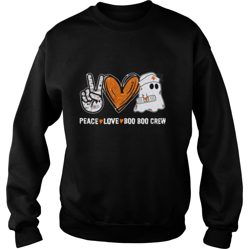 Peace Love Boo Boo Crew Ghost Nurse Halloween shirt