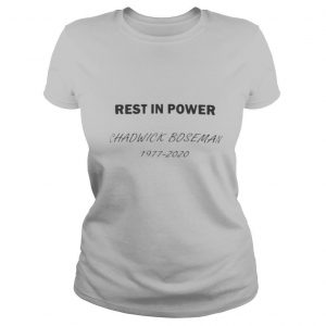 Rest in power black panther chadwick rip 1977 2020 shirt