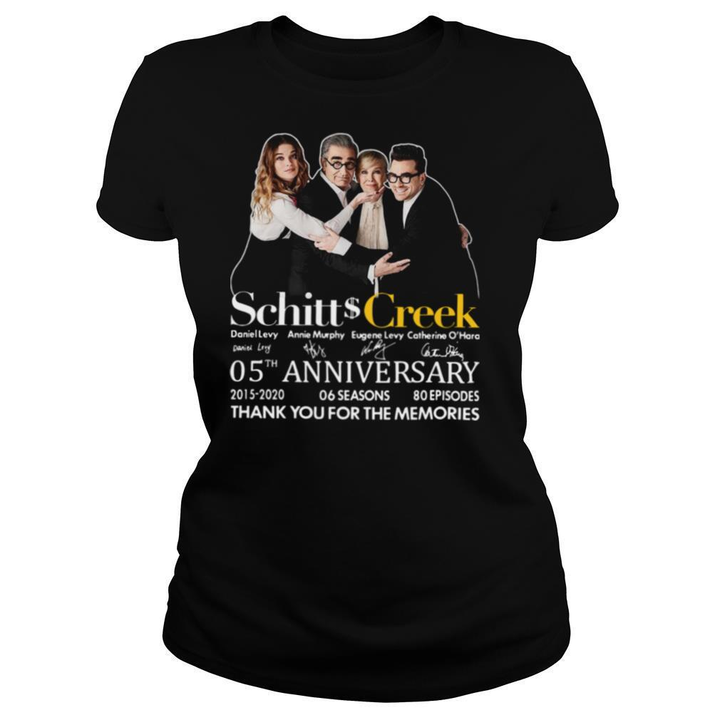 Schitts Creek 05th Anniversary Thank You For The Memories Signatures shirt