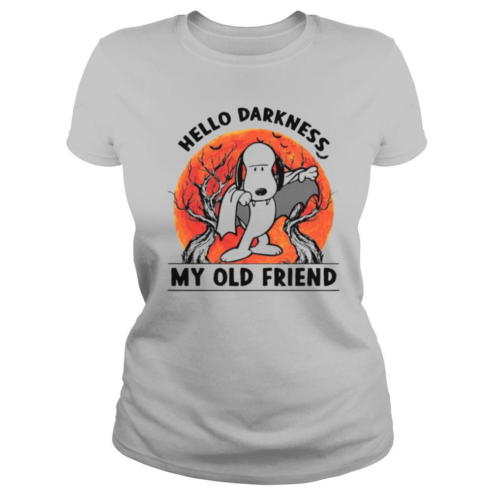 Snoopy Dracula Hello Darkness My Old Friends shirt