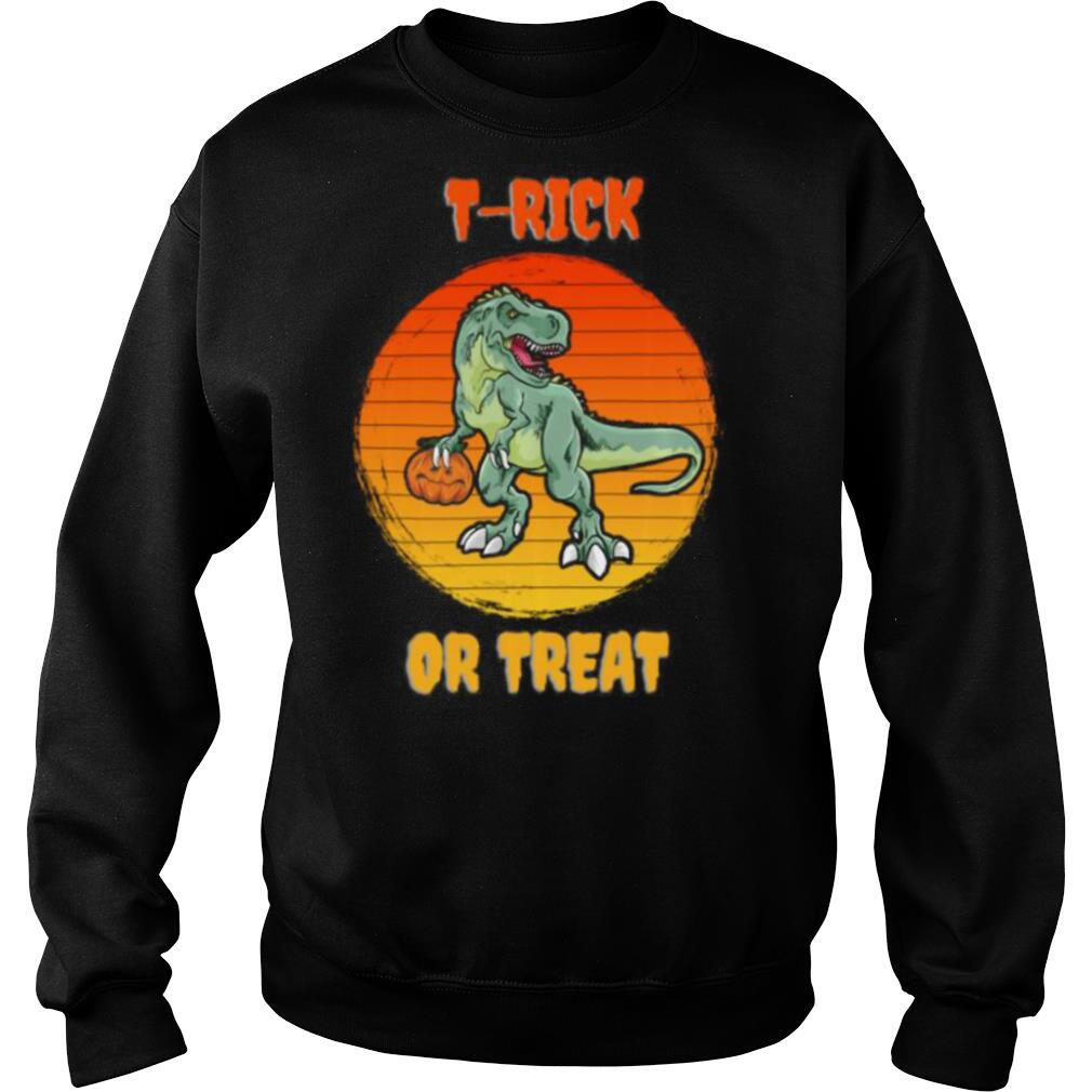 T Rick or Treat Trex Halloween Dinosaur shirt