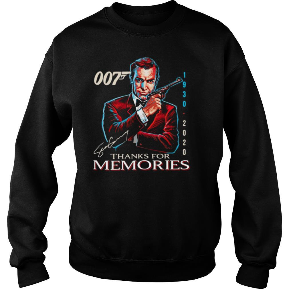 007 1930 – 2020 Signature Thanks For Memories shirt
