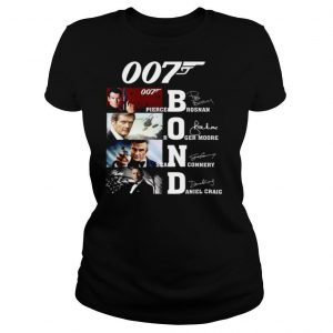 007 Pierce Brosnan Roger Moore Sean Connery Daniel Craig Signature shirt