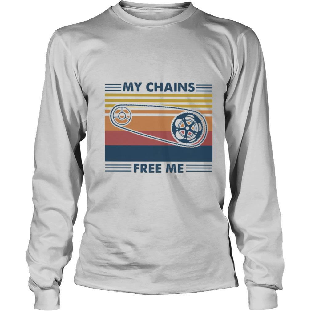 My Chains Free Me Cycling Vintage shirt