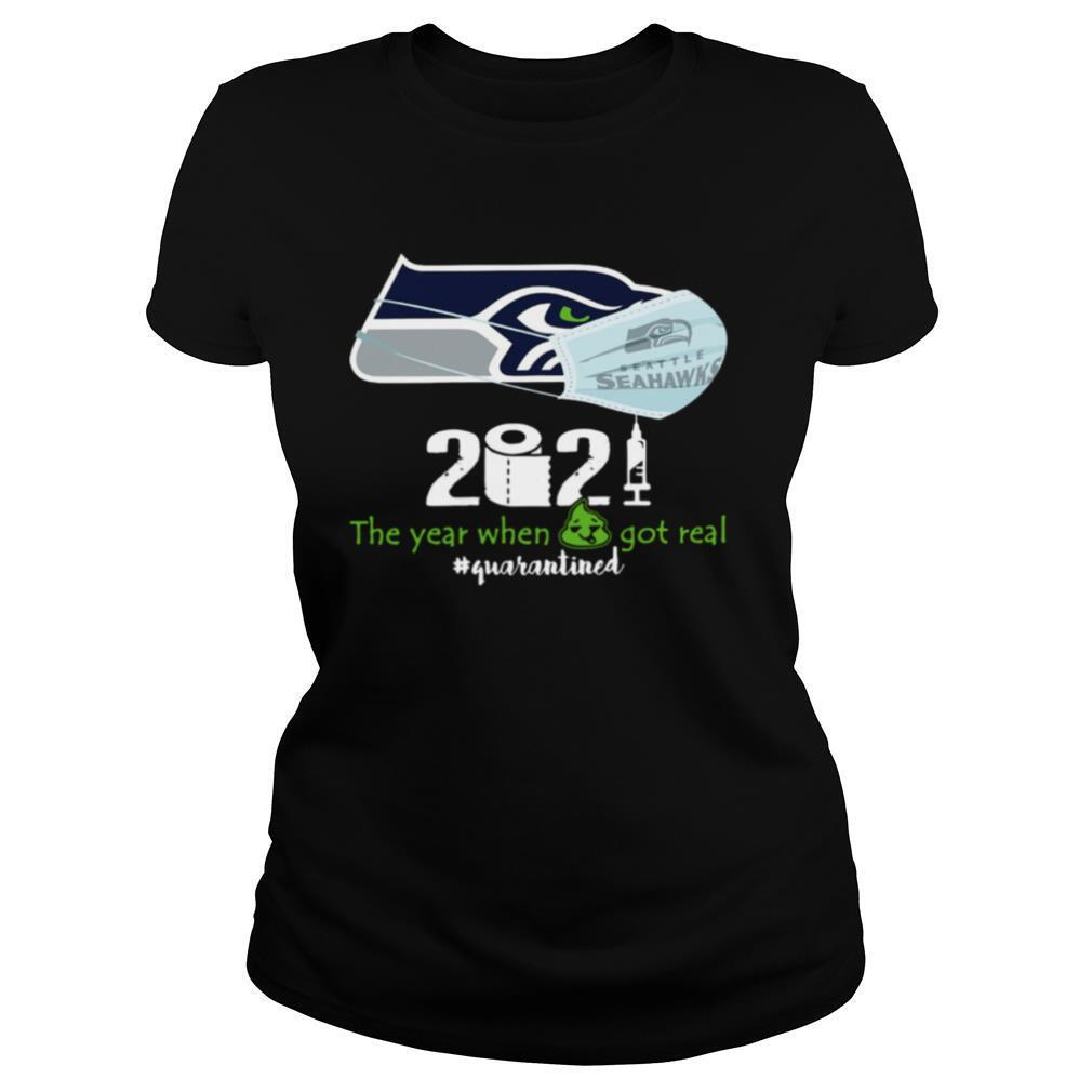 Seahawks face mask 2021 toilet paper the year when got real #quarantined shirt