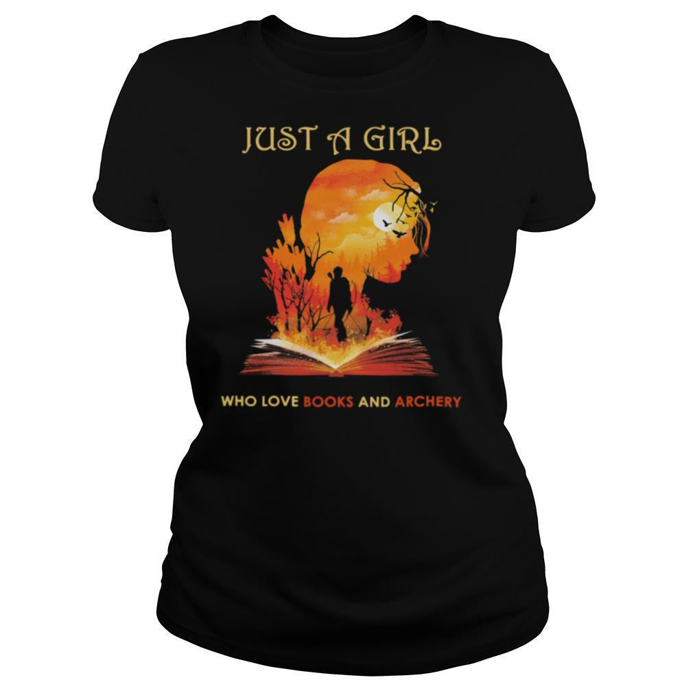 Just a girl who love books and archery shirt