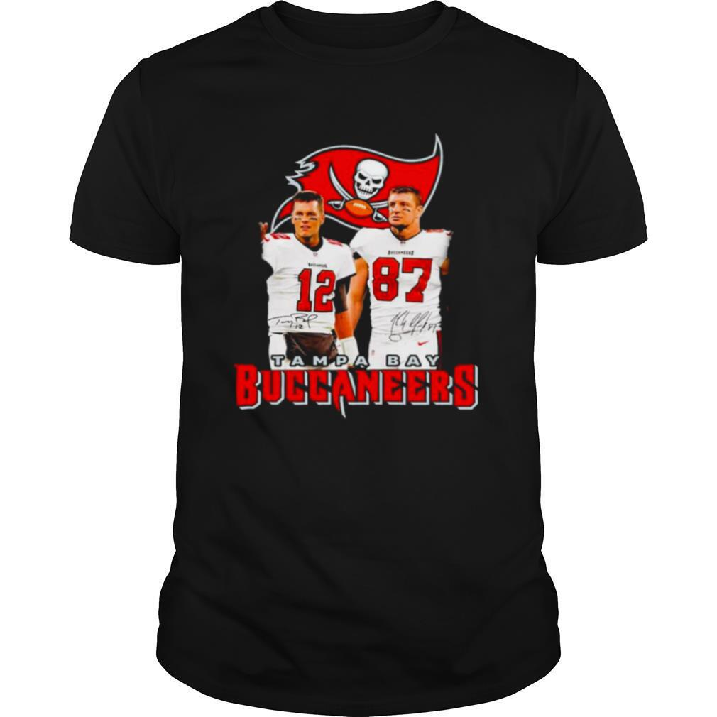 Rob Gronkowski And Tom Brady Tampa Bay Buccaneers Signatures shirt