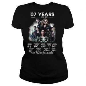 07 Years 2014 2021 The 100 Signatures Thank You For The Memories T shirt