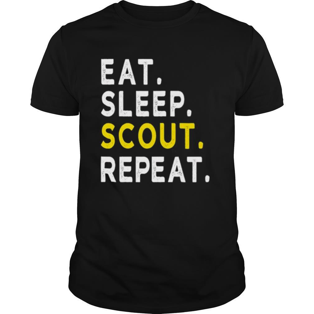 Eat Sleep Scout Repeat Funny Scouting shirt
