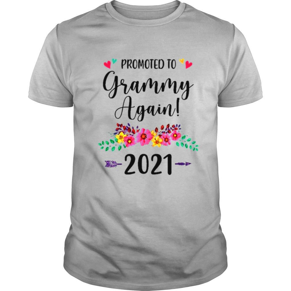 Promoted To Grammy Again 2021 Pregnancy Announcement Shirt