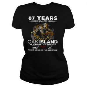 07 Years 2014 – 2021 The Curse Of Curse Of Oak Island 08 Seasons 138 Episodes Signatures Thank You For The Memories Shirt