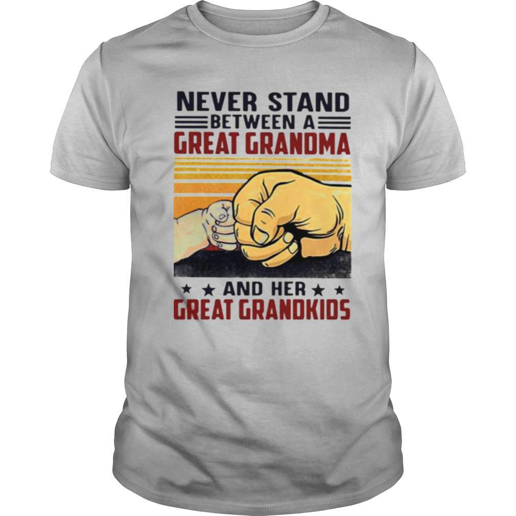 Never Stand Between A Great Grandma And Her Great Grandkids Vintage Shirt