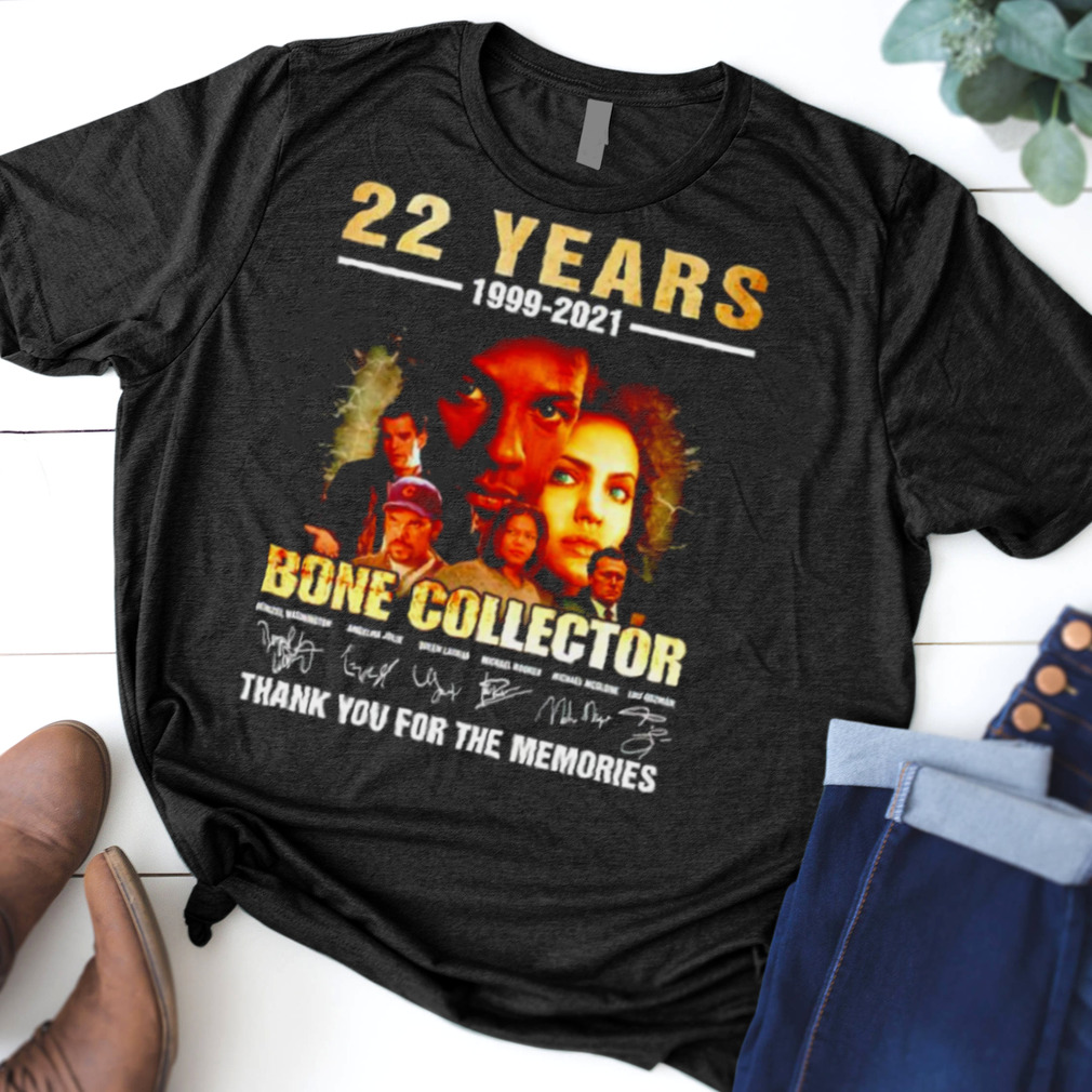22 years Bone Collector 1999 2021 thank you for the memories shirt